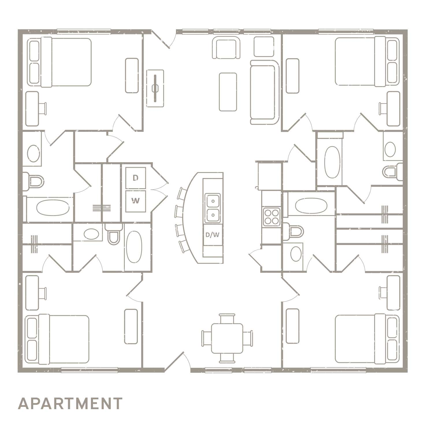 4 Bedroom Floorplan